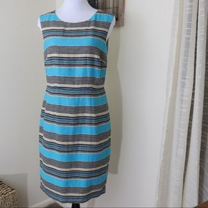 The Limited striped linen & cotton sheath dress